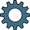 Blue Gear Logo